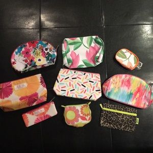 Lot of Cosmetic Bags- 9 total